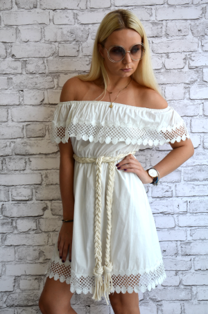 Dress Greta- white