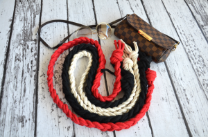 Thick braided belt (red)