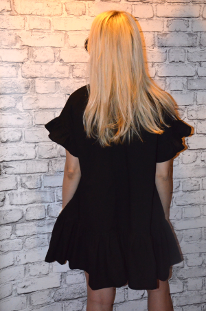 Dress with embroidered beads (black)