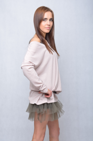 Petticoat under the dress / sweater (khaki)