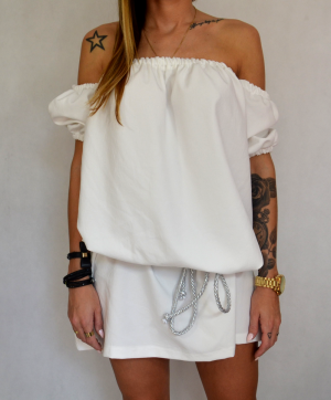 Cindy dress - white (cotton)