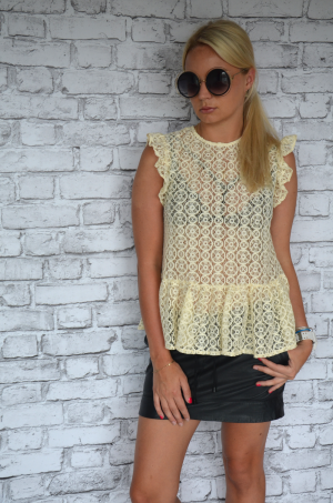 Lace blouse - yellow