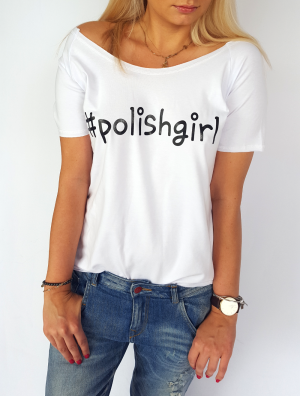 T-shirt  #polishgirl (white)