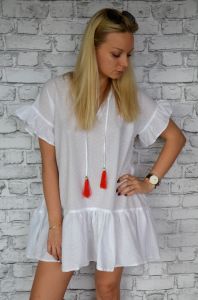 Dress with embroidered beads
