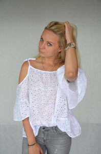 Blouse Butterfly (white)