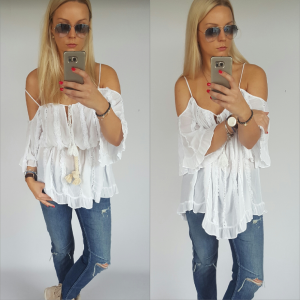 Blouse / tunic boho - white