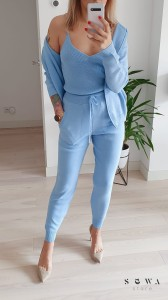 Komplet sweterkowy baby blue