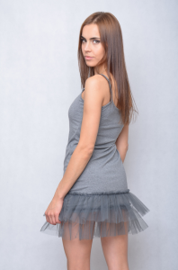 Petticoat under the dress / sweater (gray)