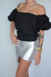Asymmetrical skirt (silver)